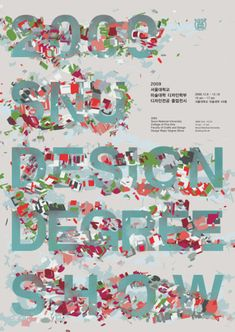 Degree Show Poster Collection of the World Series - Korea 2 > Design Projects, Typography, Diagram, Graphic Design, Creative, Blog, Movie Posters, Korea, Management