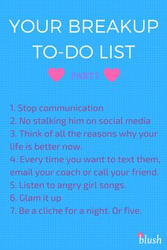 Your Breakup To-Do L