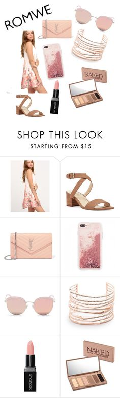 """""""Romwe Contest Outfit"""" by gaby2002rdz ❤ liked on Polyvore featuring Nine West, Yves Saint Laurent, Stephane + Christian, Alexis Bittar, Smashbox and Urban Decay"""
