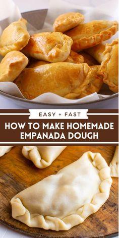 Mexican Food Recipes, Beef Recipes, Cooking Recipes, Chicken Empanadas Recipe Easy, Flaky Empanada Dough Recipe, Cuban Empanadas Recipe, Dessert Empanadas Recipe, Vegetarian Empanadas Recipe, Spanish Empanadas