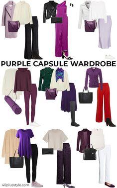 A purple capsule wardrobe   40plusstyle.com