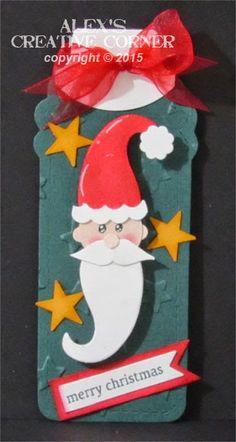 Alex's Creative Corner: Mustache Santa tag