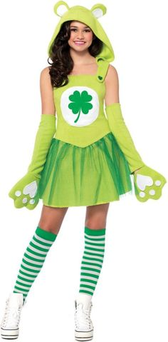 Teen Girls Good Luck Bear Costume - Care Bears - Party City