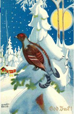 Julekort Otto Mølbach utg J.H.Küenholdt brukt 1940