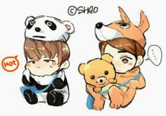 Hyesung and Eric cartoon