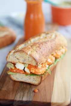 Another buffalo option (that can also be spiced to taste), these grilled buffalo shrimp sandwiches can be made with whatever condiment your kids like to pair with their buffalo'd foods.