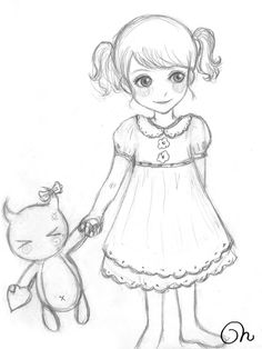 Sketch Little Girl by CQcat.deviantart.com on @deviantART