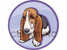 Royalty-Free black brown and white basset hound Clipart Image ...
