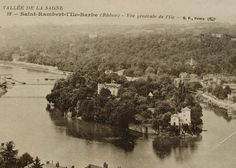 L'Ile Barbe St Rambert Saone France  Vintage French by ChicEtChoc, $4.00