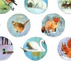 winter animals - spoonflower