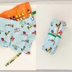 Let their inspiration soar with this crayon holder!  Fun airplane design in bright orange, green and blue  Holds 24 crayons securely with elastic Colored Pencil Holder, Twistable Crayons, Crayon Roll, Crayon Holder, Toddler Boy Gifts, Airplane Design, Baby Lovey, Birthday Gifts For Girls, Security Blanket
