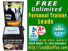 <b>Personal Trainer Lead Generation, http://LeadBoxPlus.com , info@leadBoxPlus.com  , (818) 742-0057