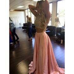 Sherri Hill Two Piece Prom Dress Pink Sparkle I felt like a princess ✨ Sherri Hill Dresses