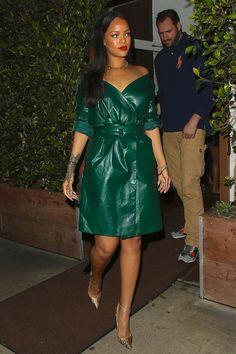 5-8-16 - Rihanna at Giorgio Baldi in LA