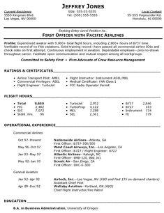 Free Sample Commercial Airline Pilot Resume Picture To Create Your Own  Commercial Airline Pilot Resume.