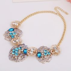 Crystal Zinc Alloy Necklace, with iron chain & Crystal, with 7.5cm extender chain, gold color plated, twist oval chain & faceted & with rhinestone, more colors for choice, lead & cadmium free, 185x58mm,china wholesale jewelry beads