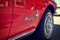 Caseys car red mustang conv