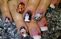 Diseños de uñas Marilyn Monroe, diseño de uñas marilyn imagen.   #diseñouñas #decoratednails #uñasdeboda