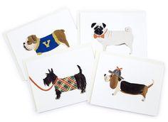 Boy Dog Card Set. Ahhhhdorable.