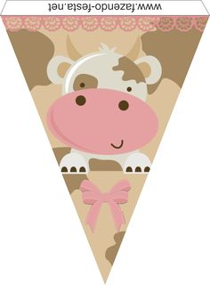 Cow in Pink: Free Printable Kit. Cow Birthday, Farm Animal Birthday, Baby First Birthday, Farm Animal Party, Farm Party, Party Printables, Free Printables, Free Printable Banner, Paper Banners