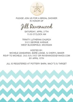 Bridal Shower Hombre Beach Invitation by WholeCraftinKaboodle, $9.00