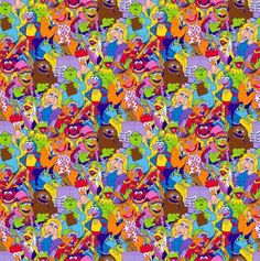 Disney Muppets Packed Cotton Fabric from Springs Creative, Miss Piggy, Kermit, Fozzie, Muppets from CurlyGirlFabric on Etsy Studio Disney Fabric, Cotton Fabric, Handmade Gifts, Packing, Yard, Cool Stuff, Studio, Creative, Crafts