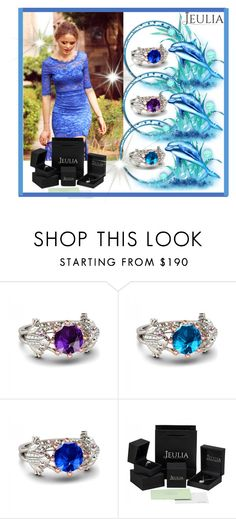 """""""1. Jeulia"""" by merryyyyy-132 ❤ liked on Polyvore featuring women's clothing, women's fashion, women, female, woman, misses, juniors, jewelry and jeulia"""