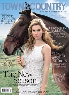 Actress Lily James covers launch Issue of British Town & Country