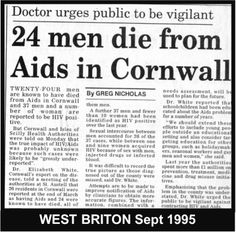 Malcolm although no longer running the ICT he was still a trustee of the charity 'Cornwall AIDS Council' & volunteer gay men's support GU Clinic.  Lidbury also began to officiate at an increasing number of gay men's funeral's in Cornwall where the church with its homophobic attitudes was less than welcome or wanted.  #LGBT  http://www.lgbthistorycornwall.blogspot.com
