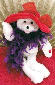 Red Hat Society Clip Art | Suzie Plush Teddy Bear