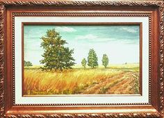 Summer. The wheat. Painting: oil on canvas 20 x 15 sm