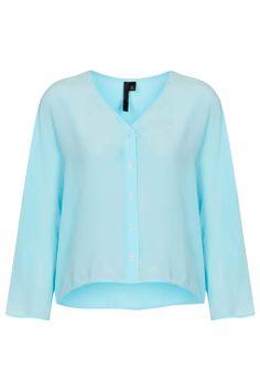 Button Through Top by Boutique - Topshop