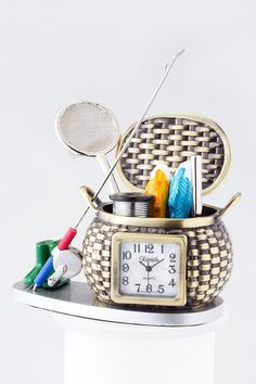 FISHERMENS DESK CLOCK , $35.5