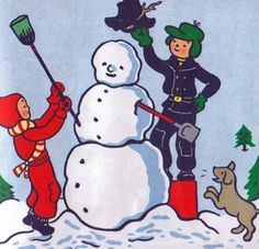 I Like Winter (1950) by Lois Lenski. Via Vintage Kids' Books My Kids Like.