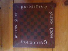 "Primitive Sign - Checkerboard 12"" x 11.5"" $30.- www.detailsanddesignbySherri.com"