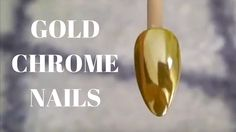 How to do Gold Chrome nails with Missu Nai Art gold chrome powder and to...