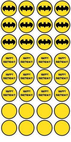 Free Printable Batman Cupcake Toppers - Batman Party - Ideas of Batman Party - Free Printable Batman Cupcake Toppers Lego Batman Birthday, Lego Batman Party, Superhero Birthday Party, 6th Birthday Parties, Birthday Fun, Birthday Cupcakes, Party Cupcakes, Batgirl Party, Valentine Cupcakes
