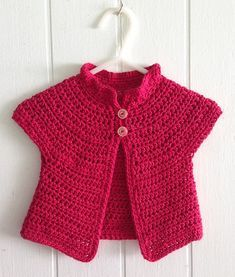 Azalea Baby Cardigan pattern by Amy H. Aymond A simple crochet baby sweater written for folks who can not read crochet patterns! Written simply, worked in almost all half double crochet, with diagrams included. Gilet Crochet, Bag Crochet, Crochet Girls, Crochet Jacket, Crochet For Kids, Free Crochet, Simple Crochet, Double Crochet, Ravelry Crochet