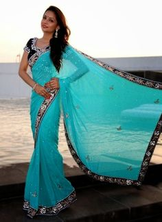 Indian Sarees 2014 with New Style | Indian Sarees Designs 2014 for Eid ~
