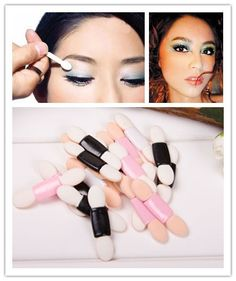 20pcs/lot  Eye Shadow Brush Magic Sponge Stick Antibacterial Boxed Smudger  Eyeliner  Eyebrow Paint Makeup Tools