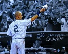 Derek Jeter Signed New York Yankees 16x20 Spotlight Photo Steiner+MLB