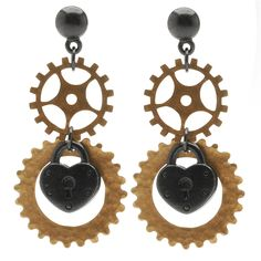 Tutorial - How to: Unlock My Love Earrings | Beadaholique Steampunk Julie Bean