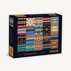 A gift that brings the family together, this puzzle features the art of Pendleton Woolen Mills, a brand beloved for over 150 years.Showcasing a patchwork of Pendleton's iconic designs, this puzzle is as fun to complete as it is stunning to display. The finished 1000-piece puzzle measures 25 x 20 in. (63.5 x 51 cm), and