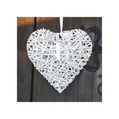 Wiklinowe serce w stylu retro <3 #handmade #design #dekoracje #serce
