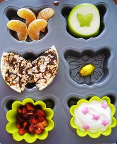 Muffin tin meals - butterflies
