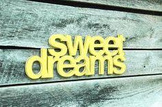 Sweet Dreams Handmade Wall Art Sign Nursery Kids by ShopHomegrown Nursery Signs, Nursery Themes, Nursery Prints, Themed Nursery, Nursery Ideas, Baby Room Decor, Bedroom Decor, Bedroom Ideas, Cool Wall Decor
