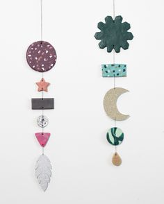 DIY : Wall decoration from polymer clay. Decorate the walls in your home with personal ornaments which you made yourself. Anna is using both polymer clay and glitter cardboard for this creative project.