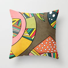 Cosmic Aztec Throw Pillow by Danny Ivan - $20.00