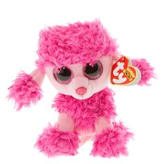 """<P>""""Play with me and fluff my hair, I'll sit very quietly on a chair!""""</P><P>Patsy is a cute pink poodle with big glittery eyes. She'll be a great companion to add to your beanie boo collection.</P><P><B>Plush toy</B> by <B>TY</B></P><UL><LI>Birthday: May..."""