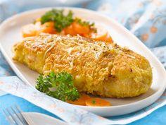 Escalope de poulet panée au fromage, facile et pas cher